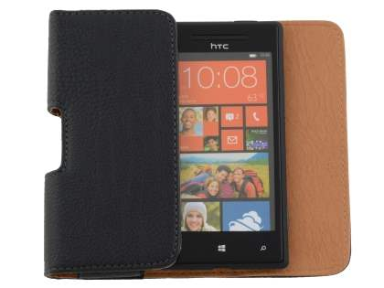 Textured Synthetic Leather Belt Pouch for HTC Windows Phone 8X