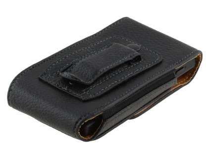 Textured Synthetic Leather Vertical Belt Pouch for Sony Xperia Sola MT27i