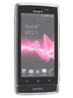 Sony Xperia Sola MT27i Wave Case - Frosted Clear/Clear