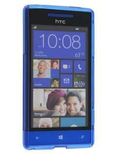 HTC Windows Phone 8S Wave Case - Frosted Blue/Blue