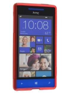 HTC Windows Phone 8S Wave Case - Frosted Red/Red
