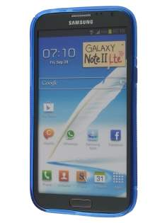 Samsung Galaxy Note 2 4G Wave Case - Frosted Blue/Blue
