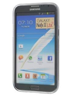 Samsung Galaxy Note 2 4G Wave Case - Frosted Clear/Clear