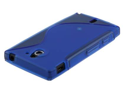 Sony Xperia Sola MT27i Wave Case - Frosted Blue/Blue