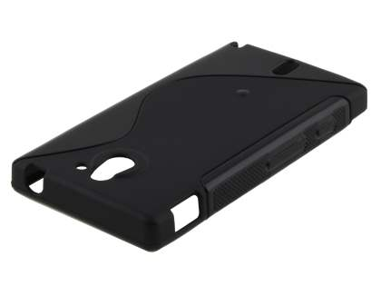 Sony Xperia Sola MT27i Wave Case - Frosted Black/Black