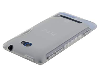 Wave Case for HTC Windows Phone 8S - Frosted Clear/Clear