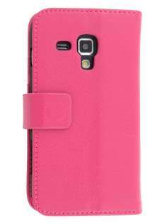 Samsung Galaxy Trend S7560 / S Duos S7562 Slim Synthetic Leather Wallet Case with Stand - Pink