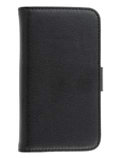 Synthetic Leather Wallet Case with Stand for Samsung Galaxy Trend S7560/S Duos S7562 - Classic Black