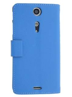 Synthetic Leather Wallet Case with Stand for Sony Xperia TX LT29i - Blue Leather Wallet Case