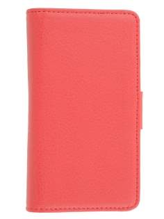 Synthetic Leather Wallet Case with Stand for Sony Xperia acro S LT26w - Red