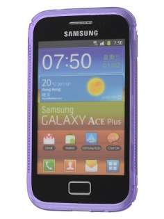 Wave Case for Samsung Galaxy Ace Plus S7500 - Frosted Purple/Purple