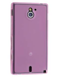 Sony Xperia Sola MT27i Frosted TPU Case - Light Pink