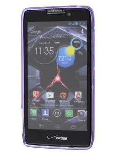 Wave Case for Motorola RAZR HD 4G XT925 - Frosted Purple/Purple