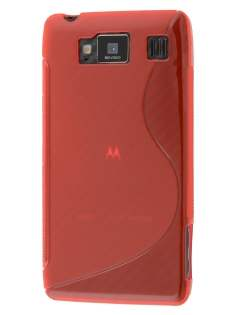 Wave Case for Motorola RAZR HD 4G XT925 - Frosted Red/Red Soft Cover