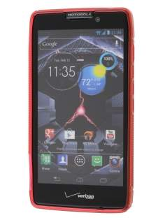Motorola RAZR HD 4G XT925 Wave Case - Frosted Red/Red