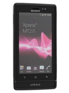 Sony Xperia Sola MT27i Frosted TPU Case - Classic Black