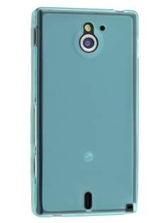 Frosted TPU Case for Sony Xperia Sola MT27i - Light Blue Soft Cover