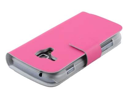 Samsung Galaxy Trend S7560 / S Duos S7562 Slim Genuine Leather Portfolio Case - Pink