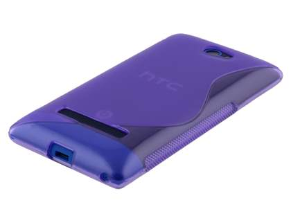 Wave Case for HTC Windows Phone 8S - Frosted Purple/Purple