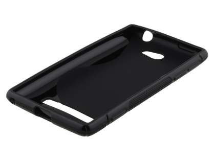 HTC Windows Phone 8S Wave Case - Frosted Black/Black