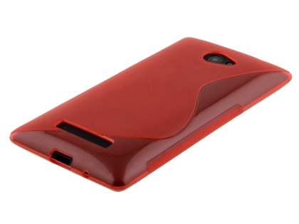 HTC Windows Phone 8X Wave Case - Frosted Red/Red