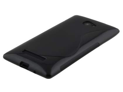 HTC Windows Phone 8X Wave Case - Frosted Black/Black