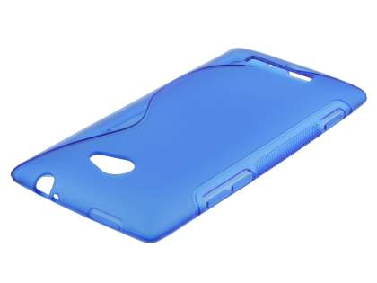 HTC Windows Phone 8X Wave Case - Frosted Blue/Blue