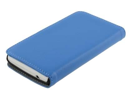 Sony Xperia TX LT29i Slim Synthetic Leather Wallet Case with Stand - Blue