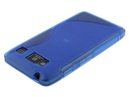 Motorola RAZR HD 4G XT925 Wave Case - Frosted Blue/Blue