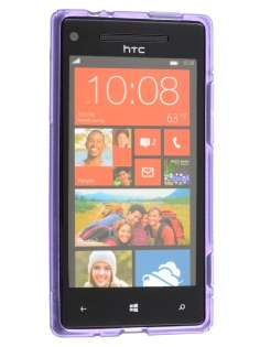 HTC Windows Phone 8X Wave Case - Frosted Purple/Purple