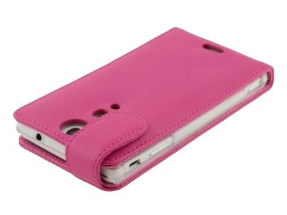 Genuine Leather Flip Case for Sony Xperia TX LT29i - Pink