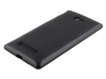 Frosted TPU Case for HTC Windows Phone 8X - Classic Black