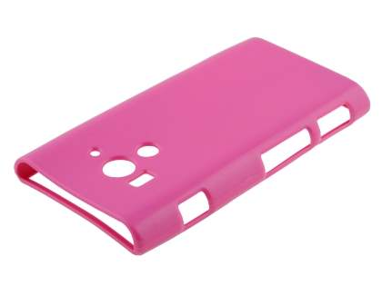 Sony Xperia acro S LT26w Colour TPU Gel Case - Pink