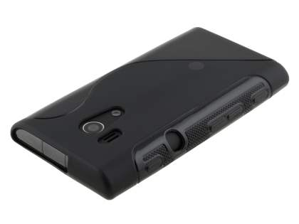 Wave Case for Sony Xperia acro S LT26w - Black
