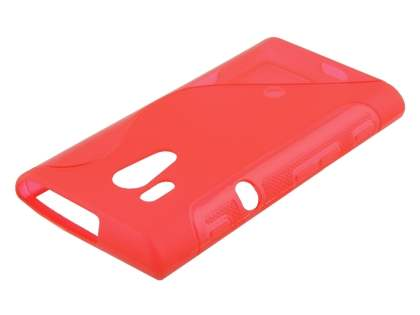 Sony Xperia acro S LT26w Wave Case - Frosted Red/Red
