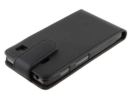 Synthetic Leather Flip Case for Motorola RAZR HD 4G XT925 - Black