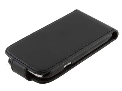 HTC Desire X Synthetic Leather Flip Case - Black