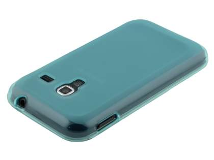 Frosted TPU Case for Samsung Galaxy Ace Plus S7500 - Light Blue