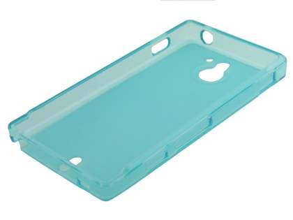 Sony Xperia Sola MT27i Frosted TPU Case - Light Blue