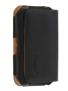 Motorola RAZR HD 4G XT925 Synthetic Leather Belt Pouch - Classic Black