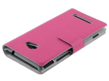 HTC Windows Phone 8X Slim Genuine Leather Portfolio Case - Pink