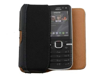 Nokia C5 Synthetic Leather Belt Pouch - Classic Black