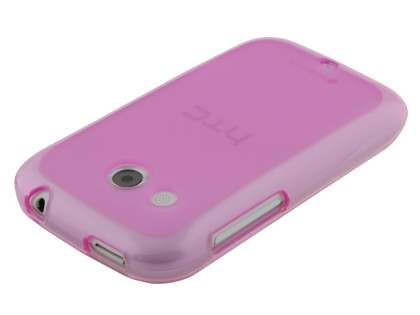 HTC Desire C A320E Frosted TPU Case - Pink