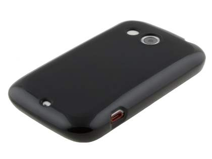 Frosted TPU Case for HTC Desire C A320E - Classic Black