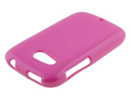 HTC Desire C A320E Frosted Colour TPU Gel Case - Pink