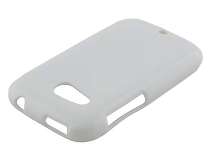 Frosted Colour TPU Gel Case for HTC Desire C A320E - Pearl White