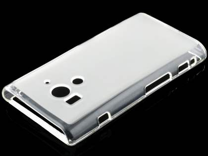 Sony Xperia acro S LT26w Frosted TPU Case - Frosted Clear