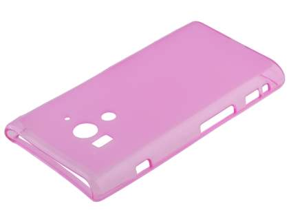 Sony Xperia acro S LT26w Frosted TPU Case - Light Pink