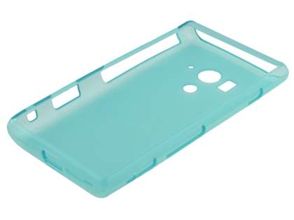 Sony Xperia acro S LT26w Frosted TPU Case - Light Blue