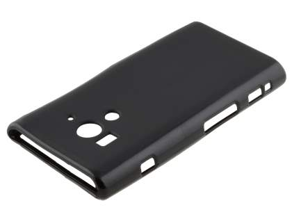 Sony Xperia acro S LT26w Frosted TPU Case - Classic Black